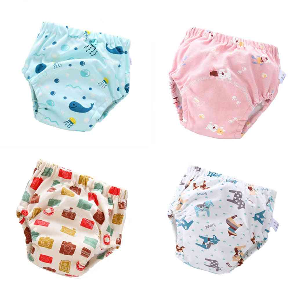 Baby Nappy Changing Diapers, Washable 6 Layer Soft Pants