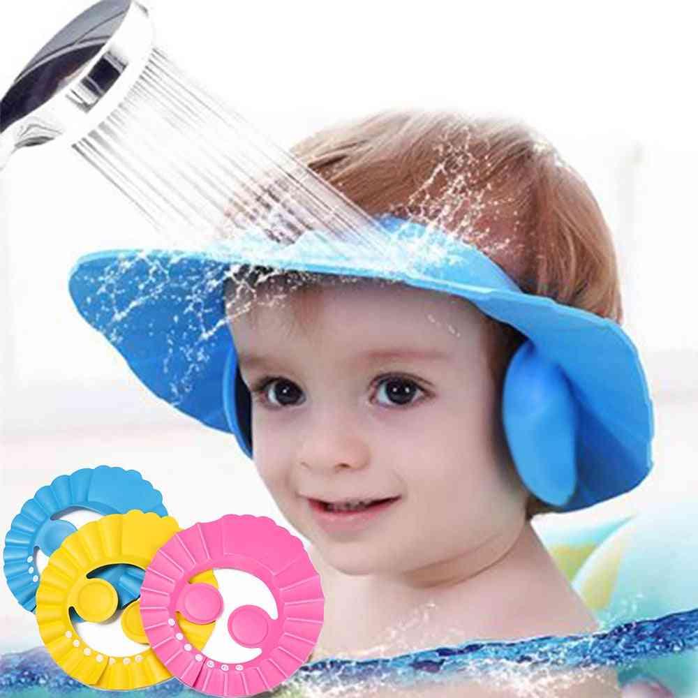 Baby Shower Caps, Child Kids Waterproof Shampoo Hat