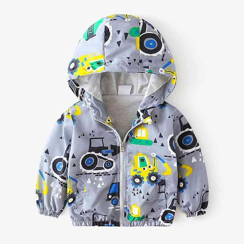 Children Jackets, Cartoon Print Baby Outerwear Coats
