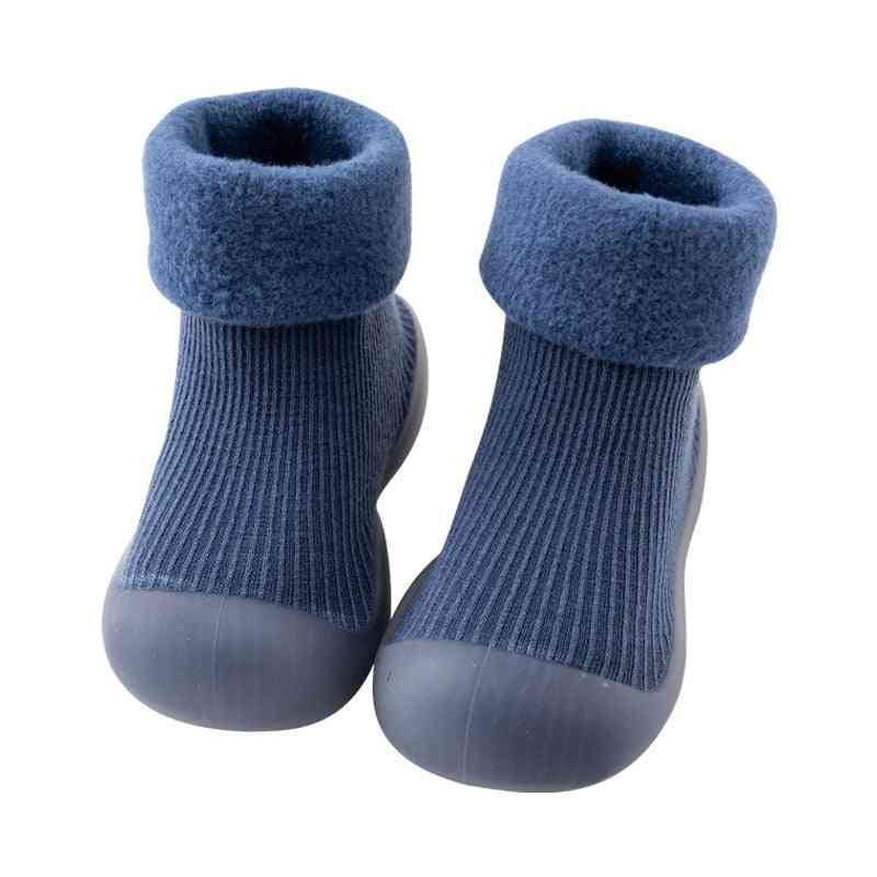 Winter Warm Snow Shoes Socks, Brushed Thick Sock Shoes - 2
