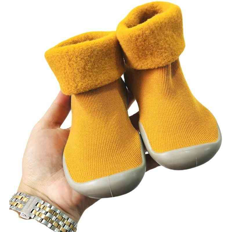 Winter Warm Snow Shoes Socks, Brushed Thick Sock Shoes - 1