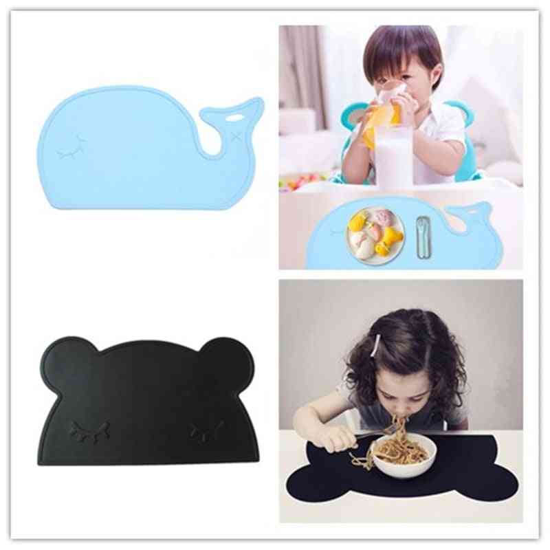 Cartoon Waterproof Silicone Placemat, Baby Dining Table Pads