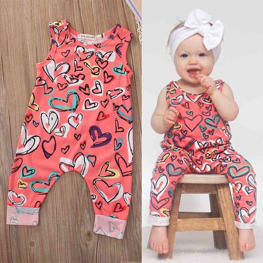 Newborn Infant Baby Girl Outfit Clothes Romper Jumpsuit