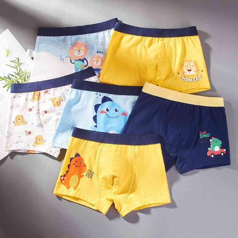 Cotton Underwear Baby Boy Cartoon Print Soft Underpants