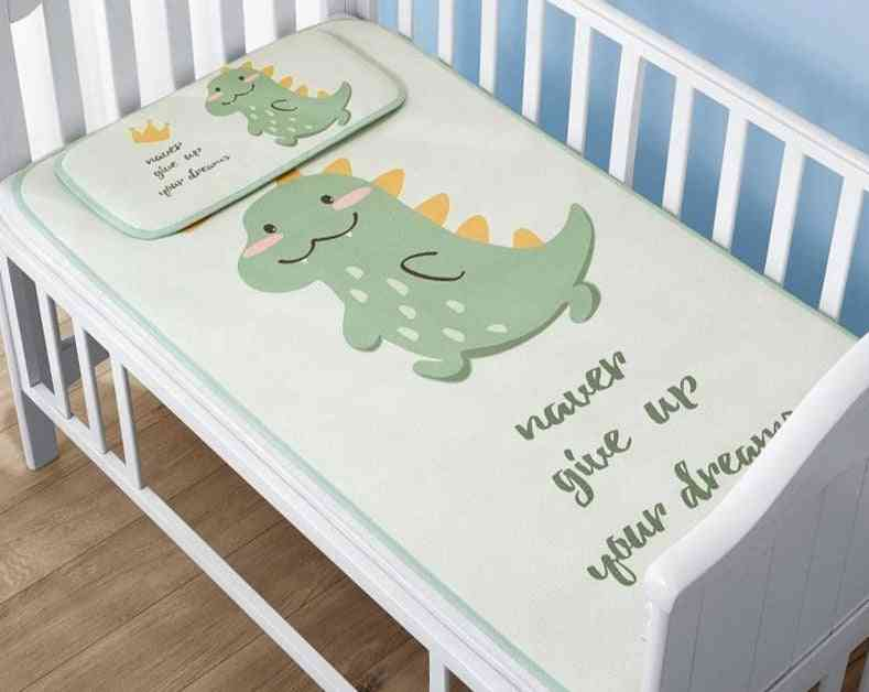Baby Cool Mat With Pillows Ice Silk Soft Cushion's Sleeping Bed Air