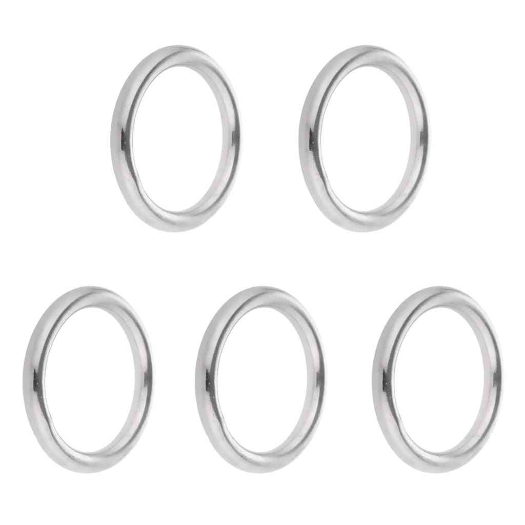 5x Smooth Welded High Strength Stainless Steel Round O Ring