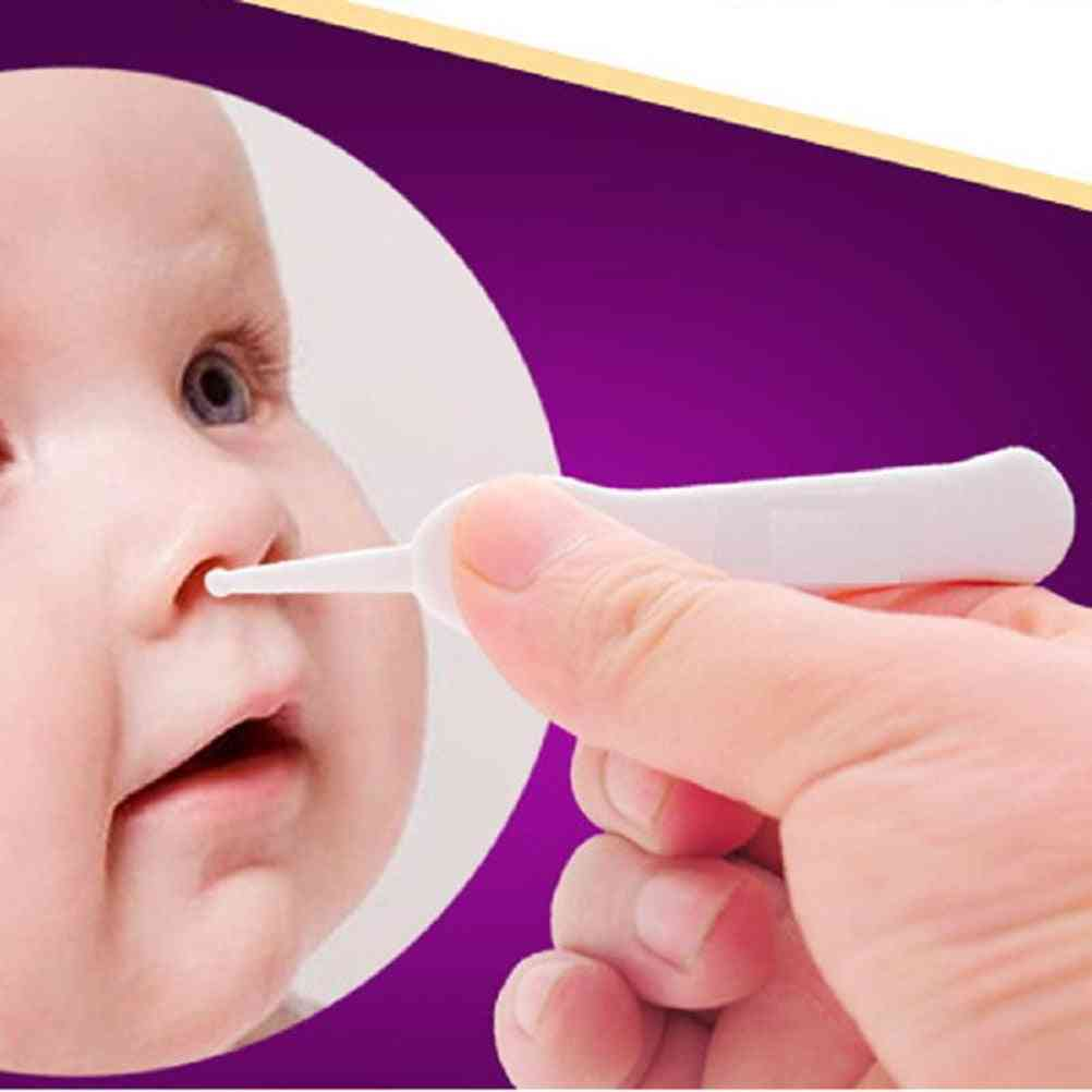 Safety Plastic Baby Smooth Point Head Tweezers