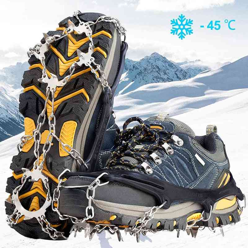 Claws Stainless Steel Nails Spikes Footwear, Ice Traction System, Crampons, Safe, Non-slip Shoe Cover, Climbing Accessories