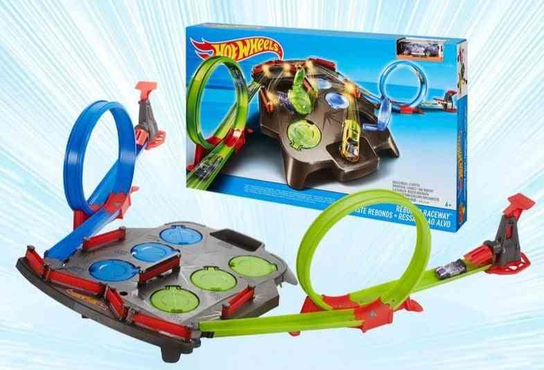 Rebound Raceway Double Athletics Track Racing Toy