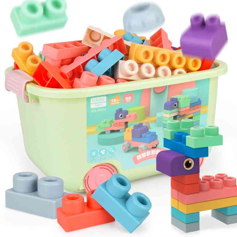 Baby Grasp Toy Building Blocks Teethers Squeeze Toy Bath Ball