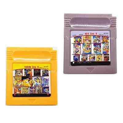 61/108 In 1 Video Game Cartridge Compilation Console Card For Nintendo Gbc
