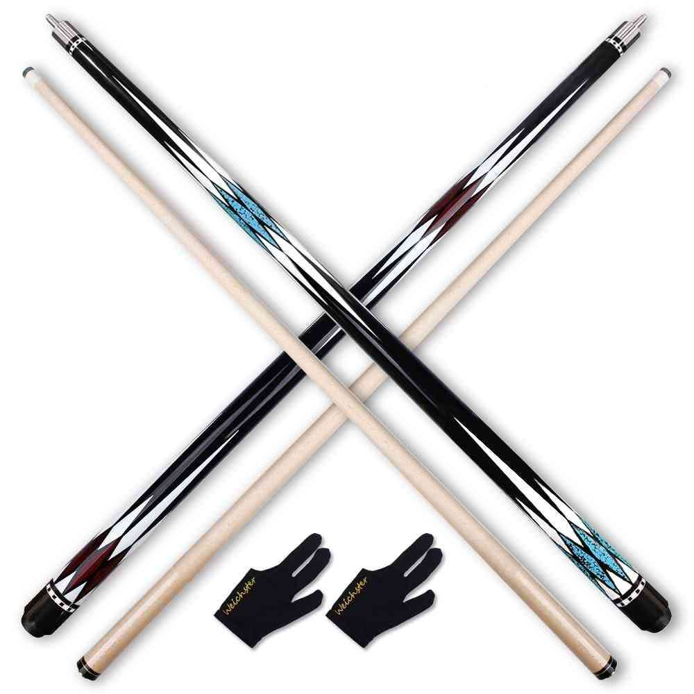 Billiard Pool Cue Stick 1/2 Red Blue Buff Cue 57