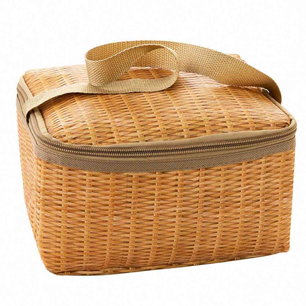 Outdoor Camping Bag Tableware Food Container Basket