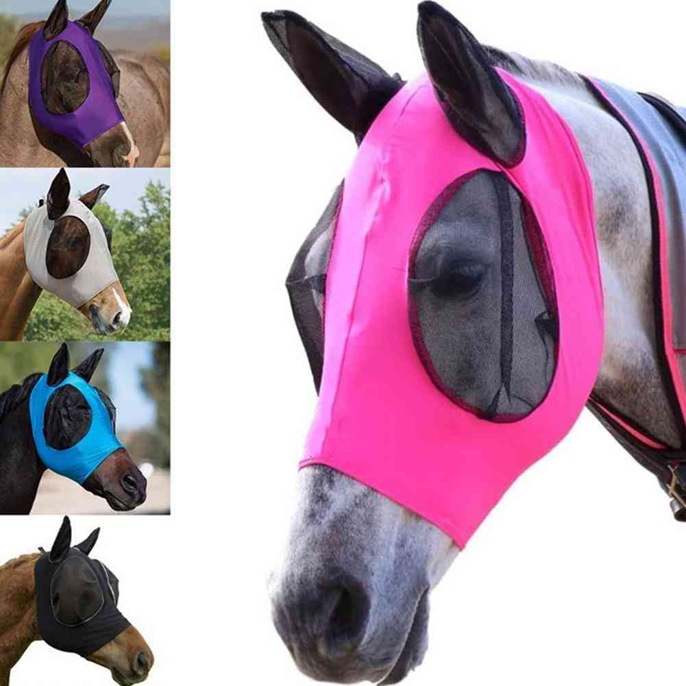 Breathable Fly-proof Net Horse Mask