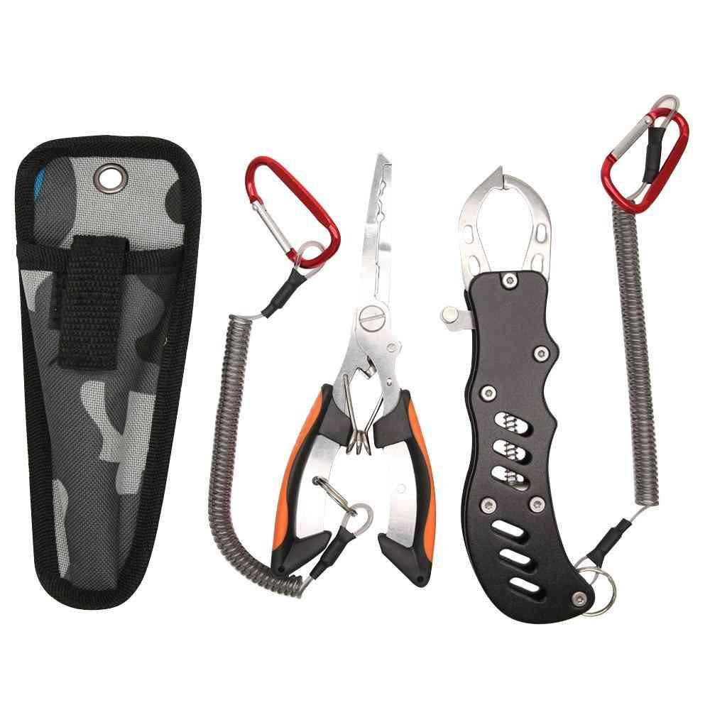 Stainless Steel Multifunctional Fishing Pliers Spring Accessories Tool