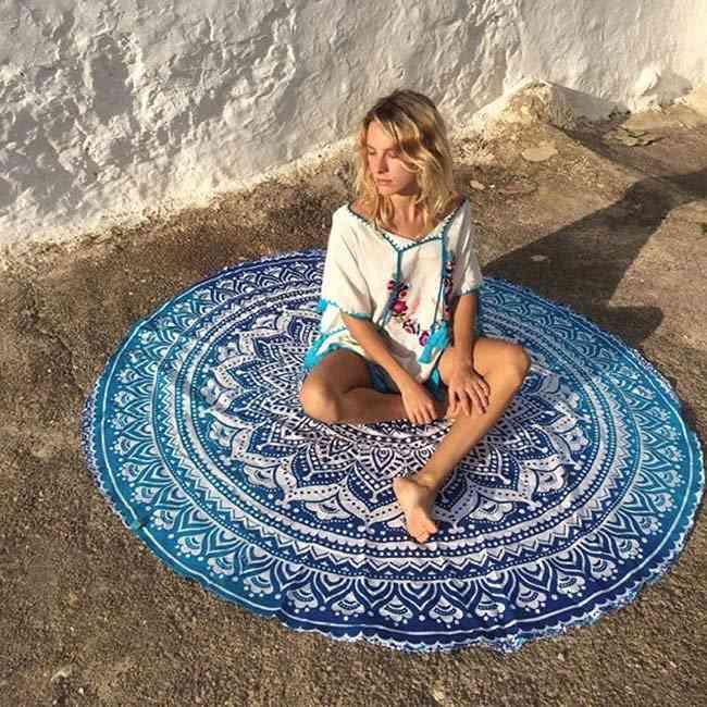 Mandala Round Yoga Mat