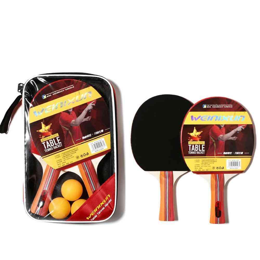 Double Reverse Rubber Horizontal Racket Ping Pong Racket