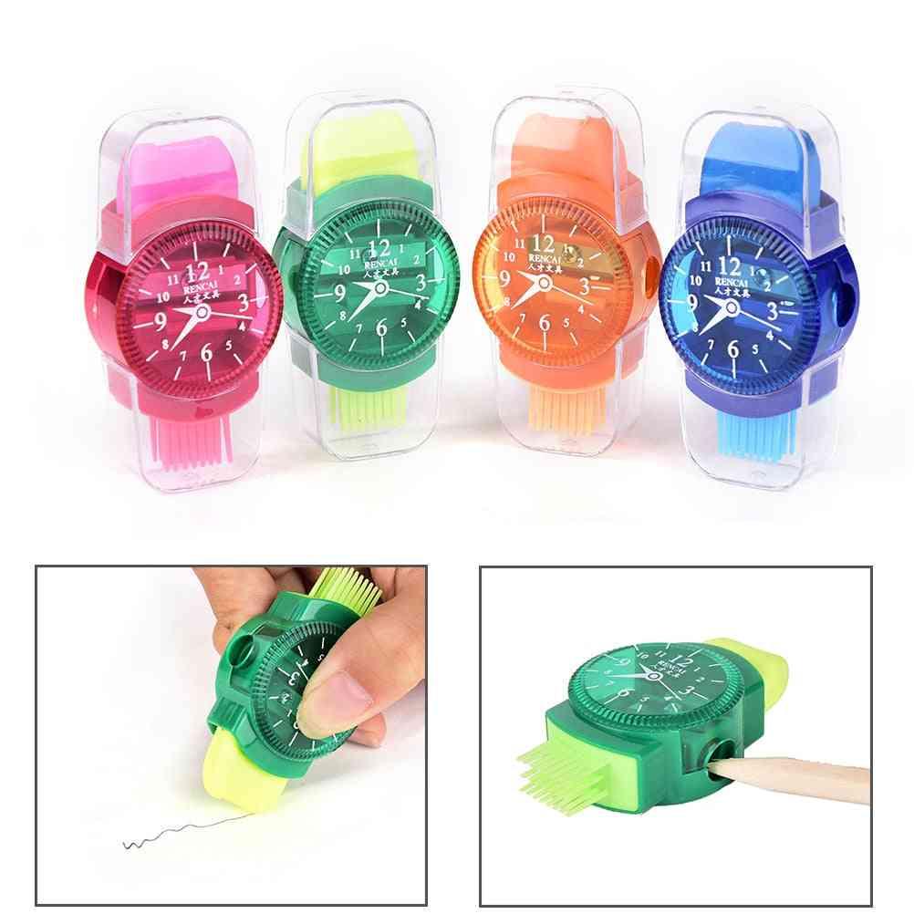 Wristwatch Modeling Pencil Sharpener With Eraser