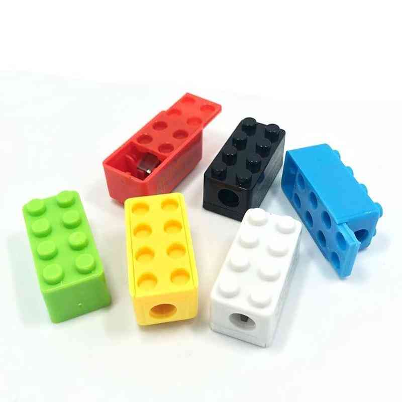 Creative Cute Cartoon Toy Building Blocks Plastic Pencil Sharpener
