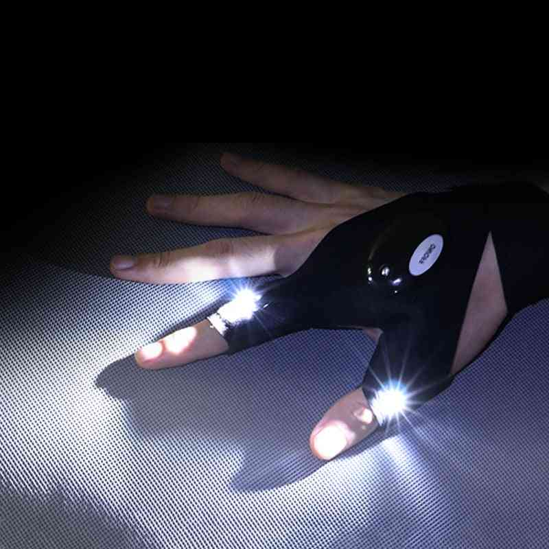 Night Light Waterproof Fishing Gloves