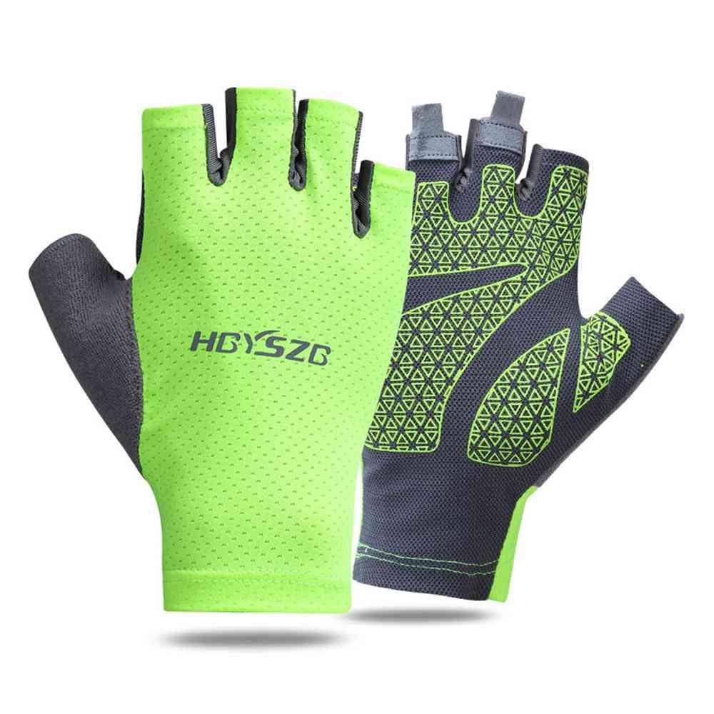 Silica Gel Non-slip Half-finger Gloves For Outdoor Sports Sp