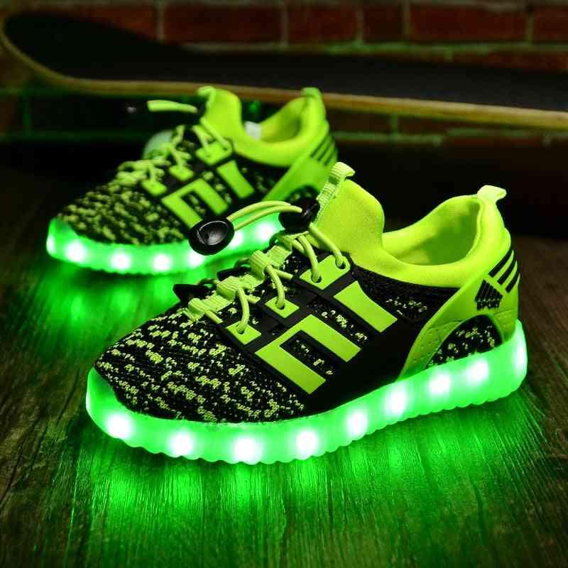 New Kids Usb Luminous Glowing Lights Up Shoes