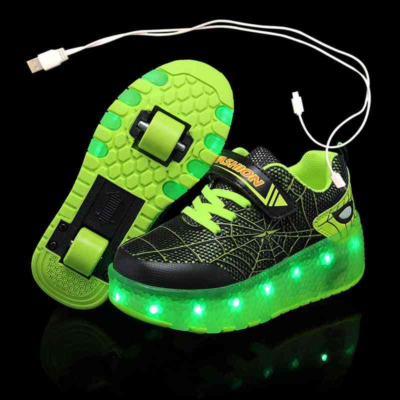 Wheels Luminous Glowing Sneakers, Led Light Roller Shoes