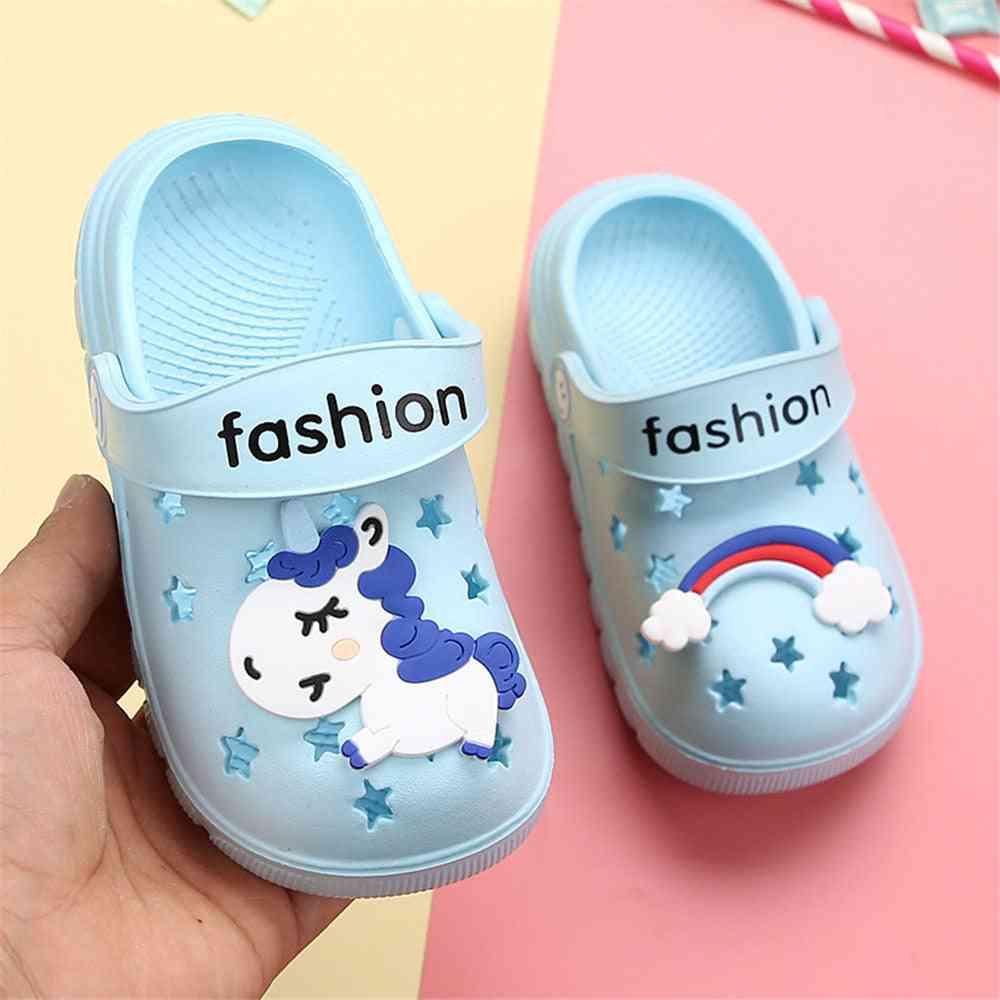 Boy Girl Rainbow Shoes, Summer Toddler Animal Slippers