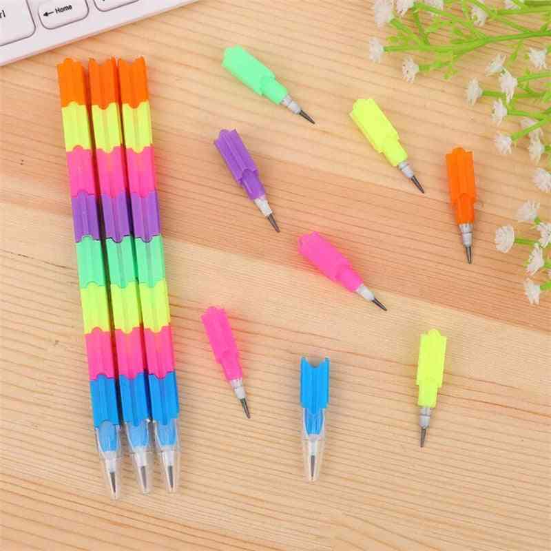 School Blocks Replaceable Core Rainbow Pencils Writing Tools