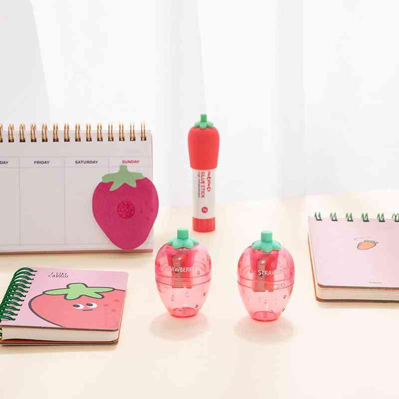 Portable Creative Lovely Strawberry Pencil Sharpener
