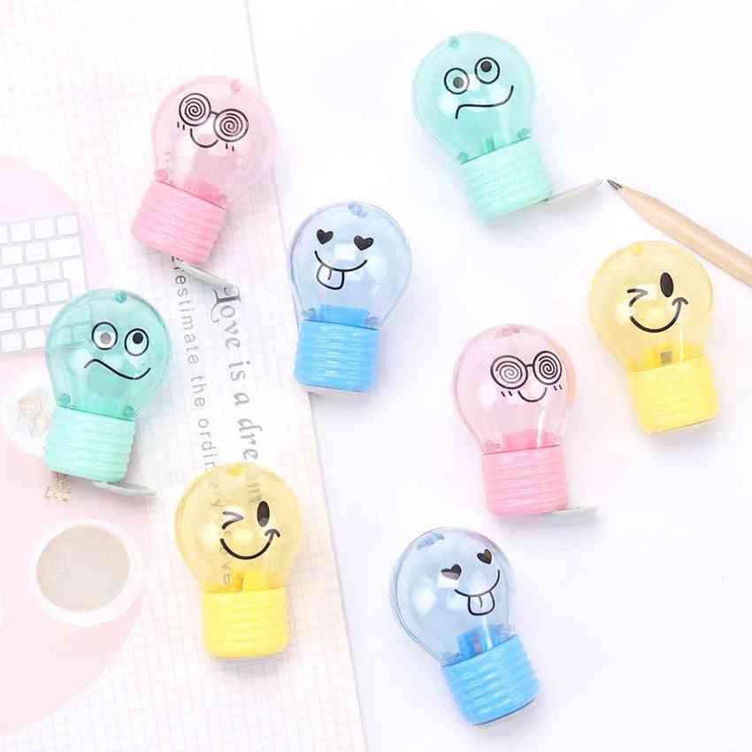 Novelty Bulb Style Creative Emotions Plastic Pencil Sharpener