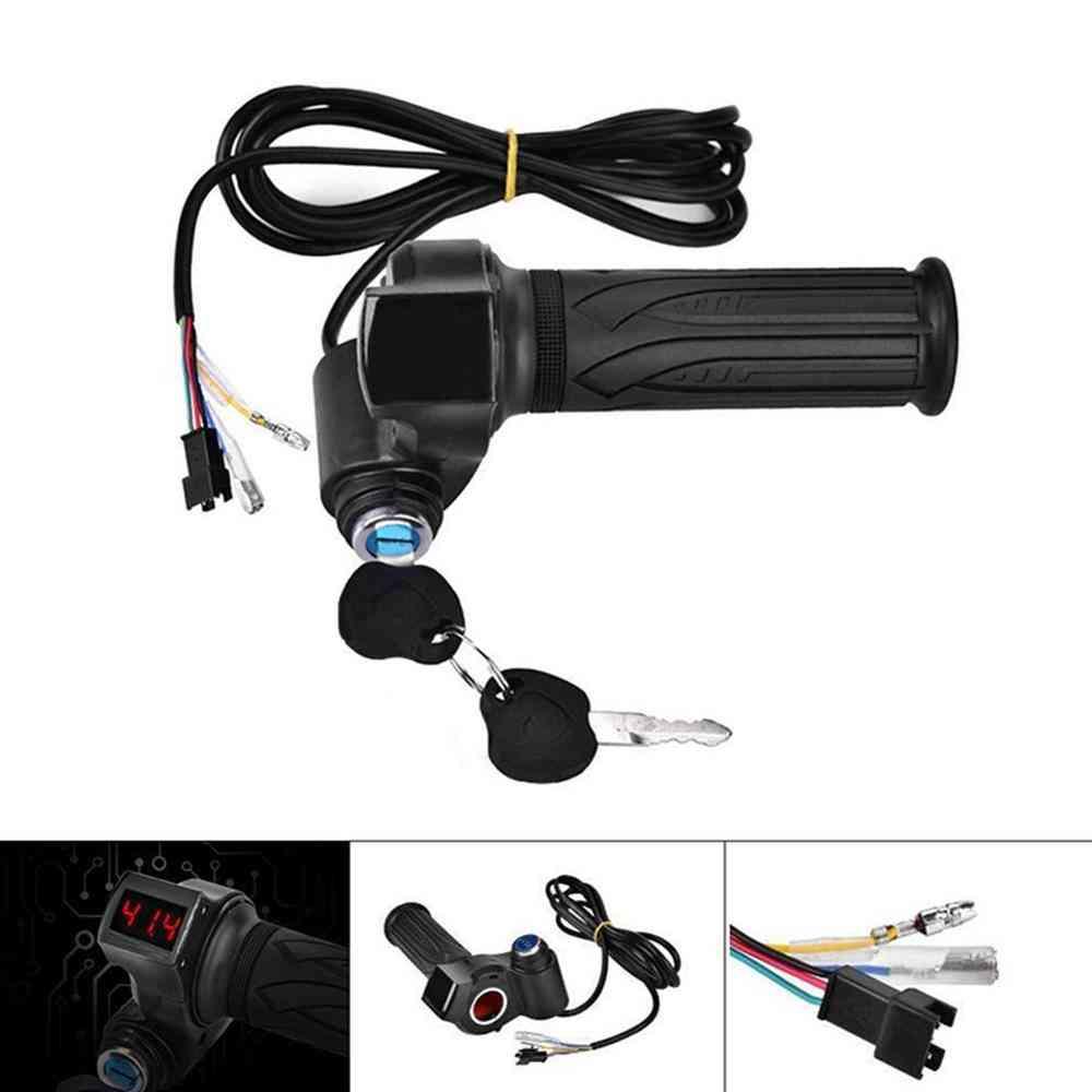Led Digital Meter Electric Bike Scooter Throttle Grip