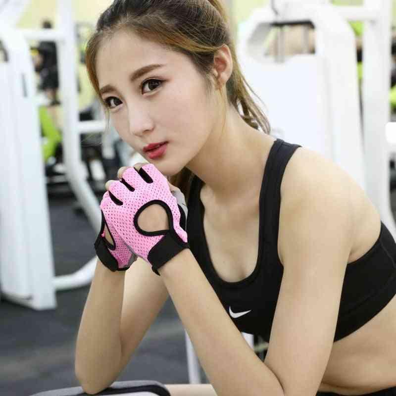 Professional Gym Fitness Weightlifting No Slip Half Finger Gloves