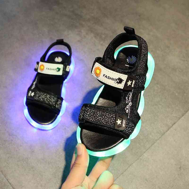 Children's Casual Sandals, Soft Led Shoes