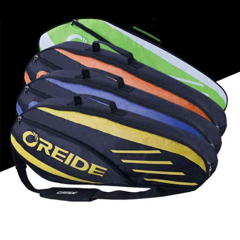 Waterproof Badminton Racket Bag For 3-6 Rackets Single Shoulder