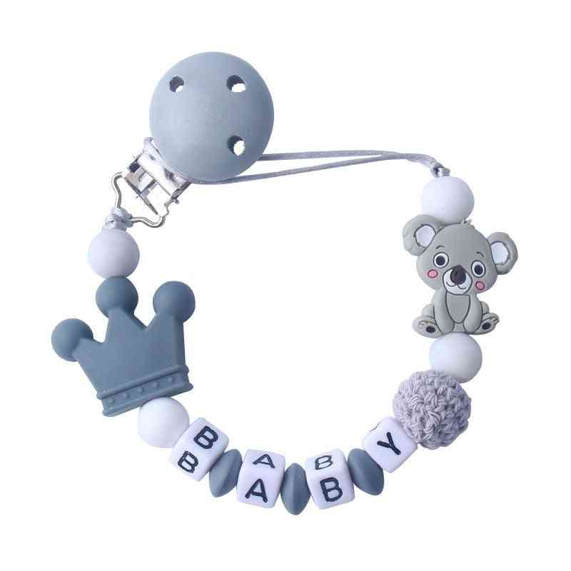 Baby Pacifier Clips Koala Pacifier Chain Holder For Baby Soother Chew Toy