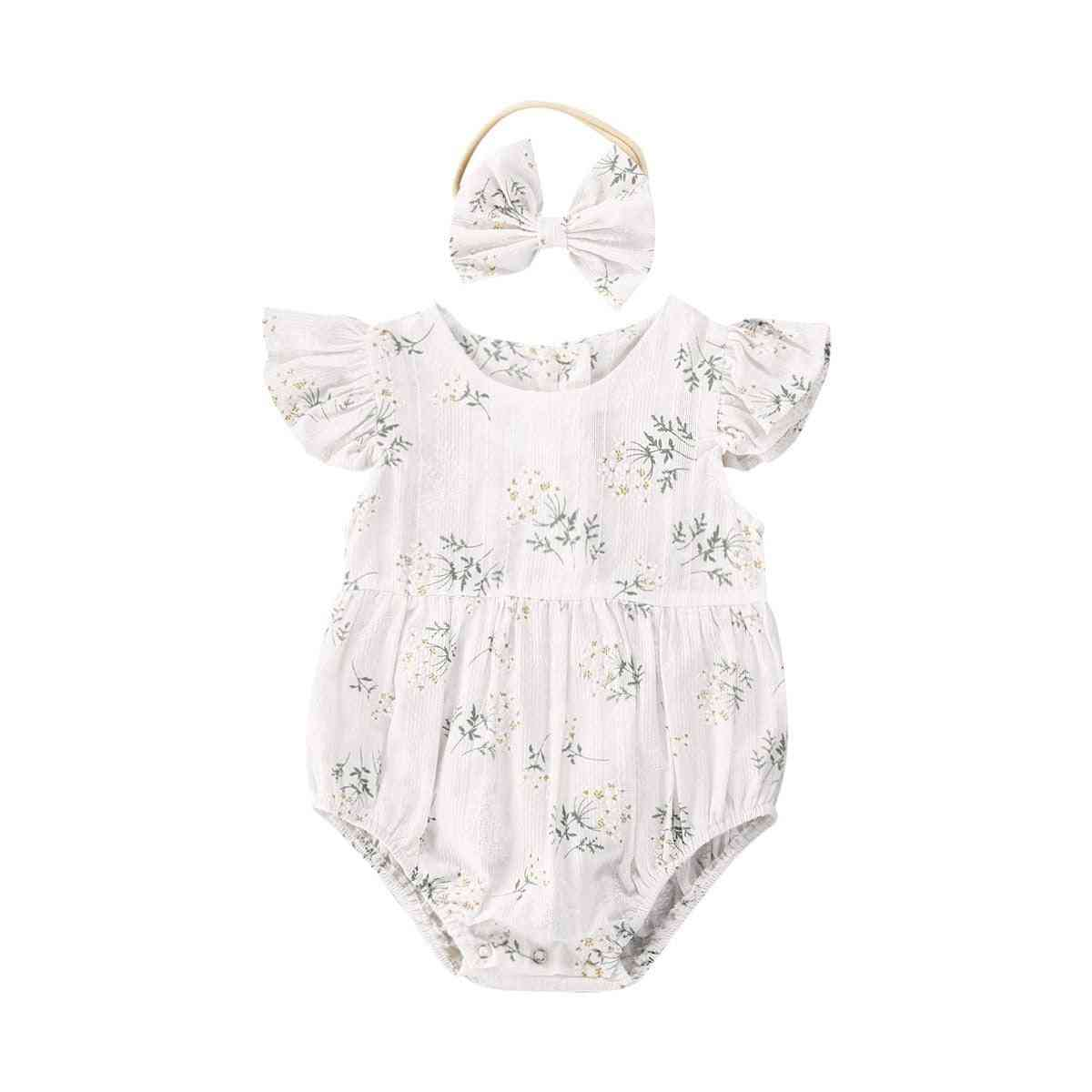 Kids Baby Girl Clothes Floral Jumpsuit