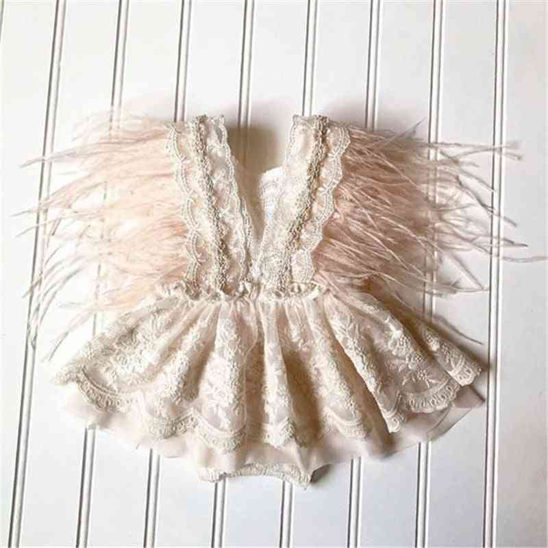 Baby Lace Embroidery Romper Dress