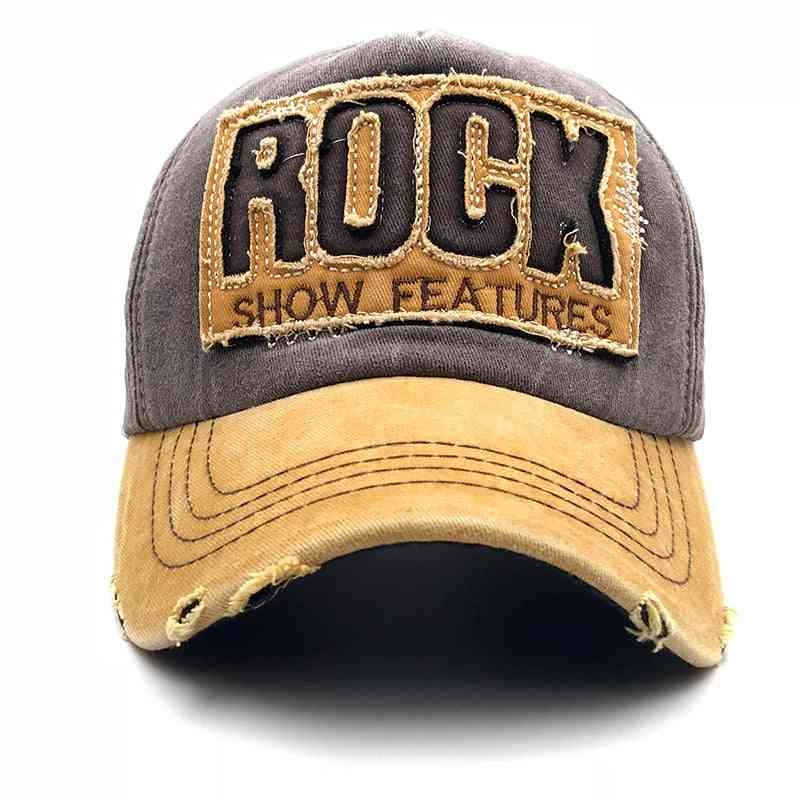 High Quality Letter Rock Embroidery Cotton Baseball Cap