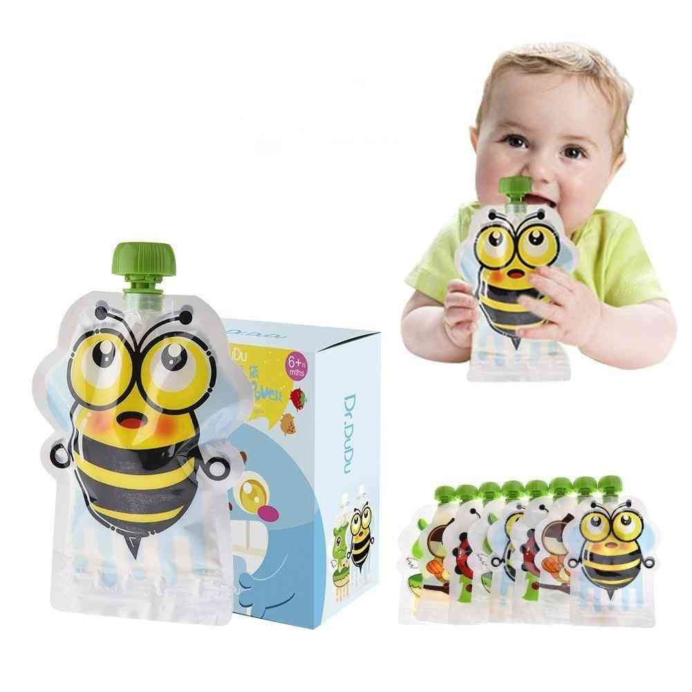 Food Pouch Storage Bag Homemade Double Zipper Set Baby Food Storage