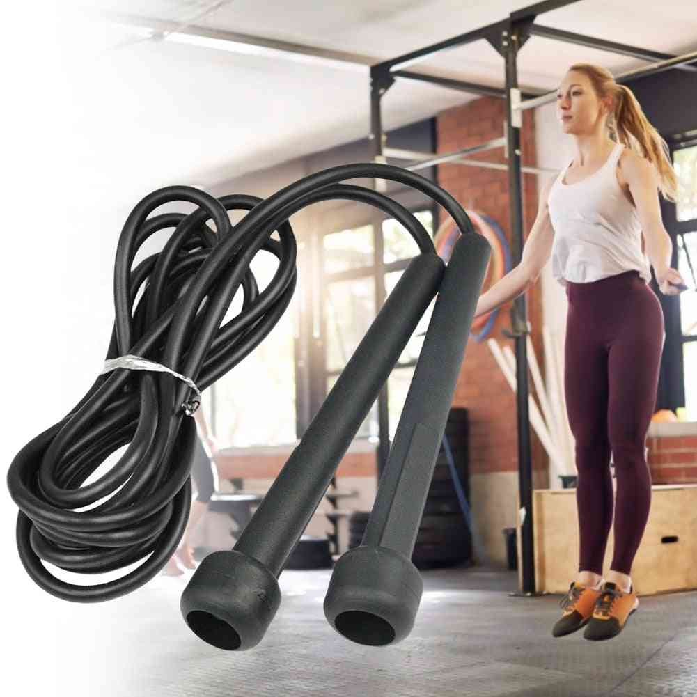 Portable Rope Jumping Black Gym Skipping Rope