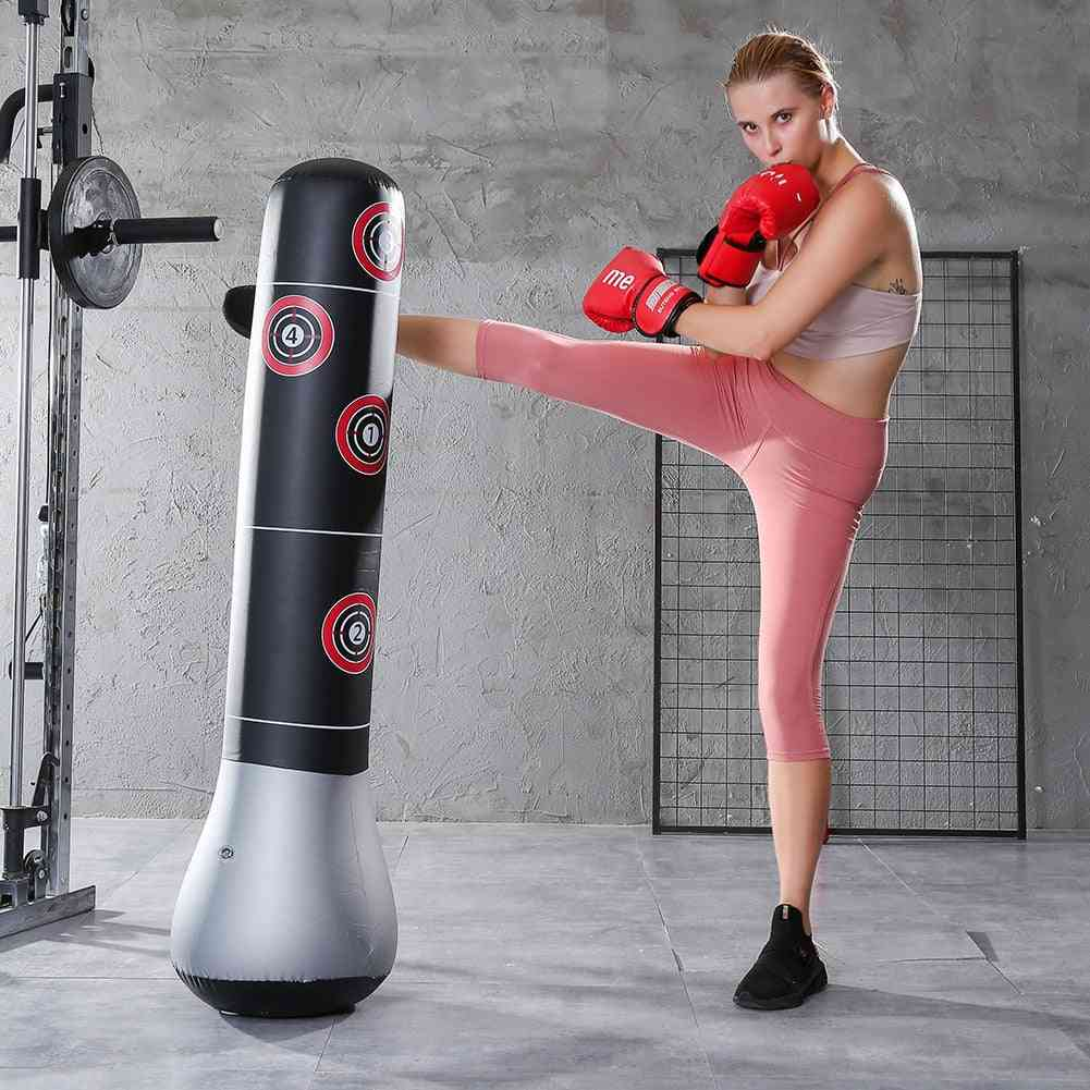 Inflatable Training Pressure Relief Exercise  Boxing Bag