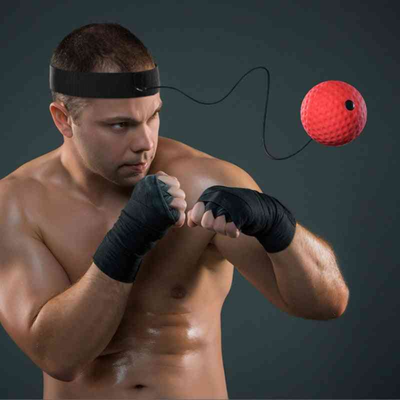 Fight Punch React Training Reflex Ball With Headband