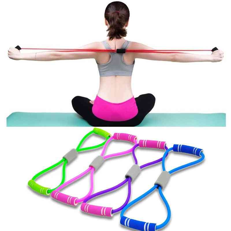 Hot Yoga Gum 8 Word Chest Expander Rope