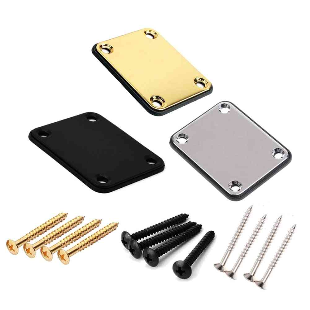 Guitar Neck Plate St Electric Guitar Neck Plate Joint Back Mounting Plate With Screws Parts For Guitar Bass 3 Color Neck Plate