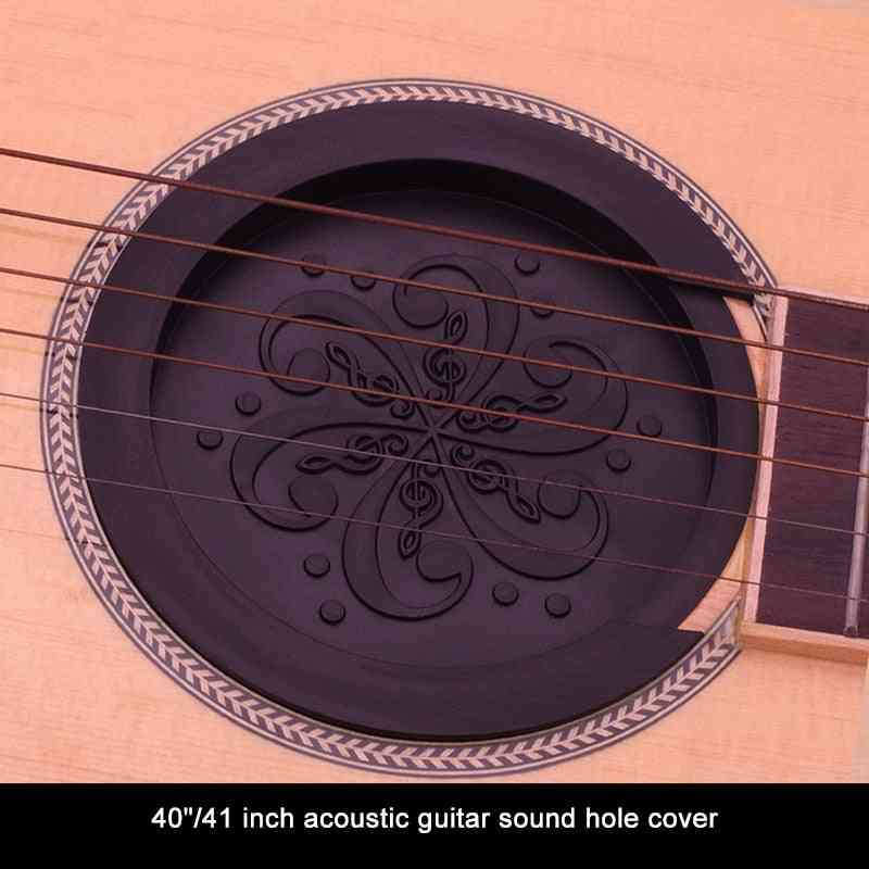 Guitar  Sound Hole's Silicone Cover, Block Weak Sound Buffer Plug,  Parts Accessory