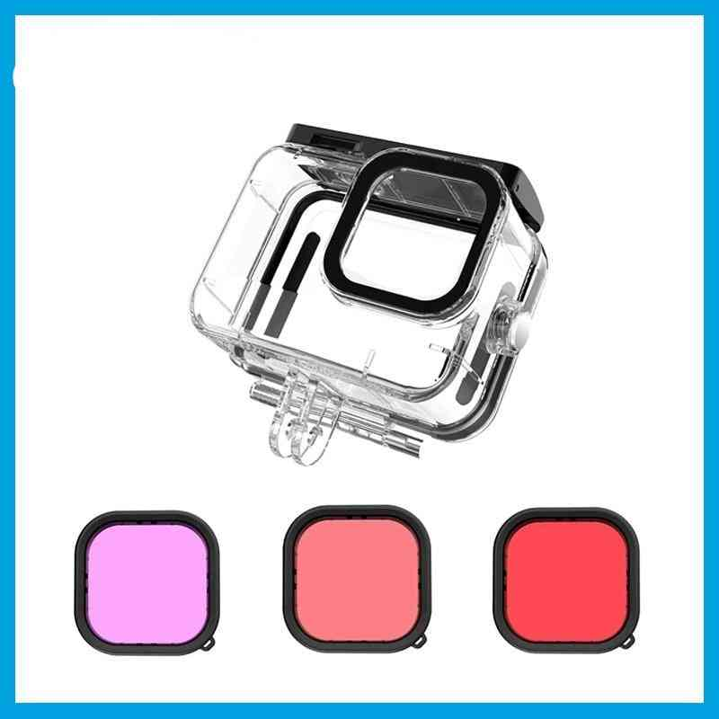 Waterproof Case Underwater Tempered Glass Lens Filter Diving Housing Cover
