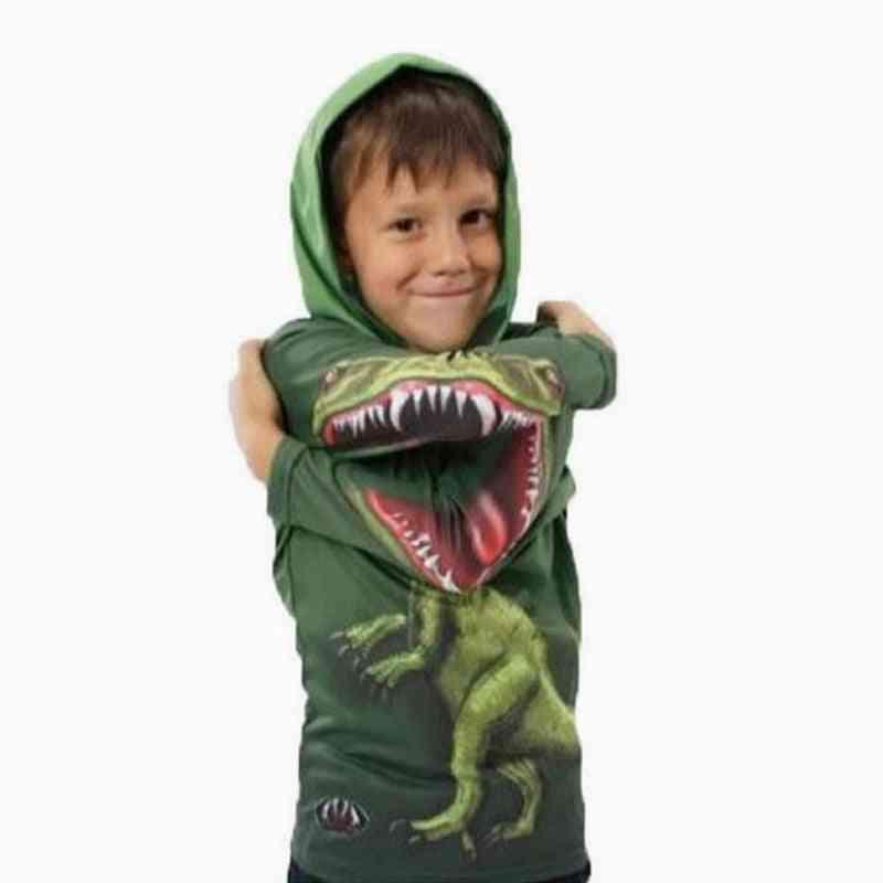 Hoodies For Boy Cartoon Polyeste  Teenager Novelty Long Pullover Sweatshirts
