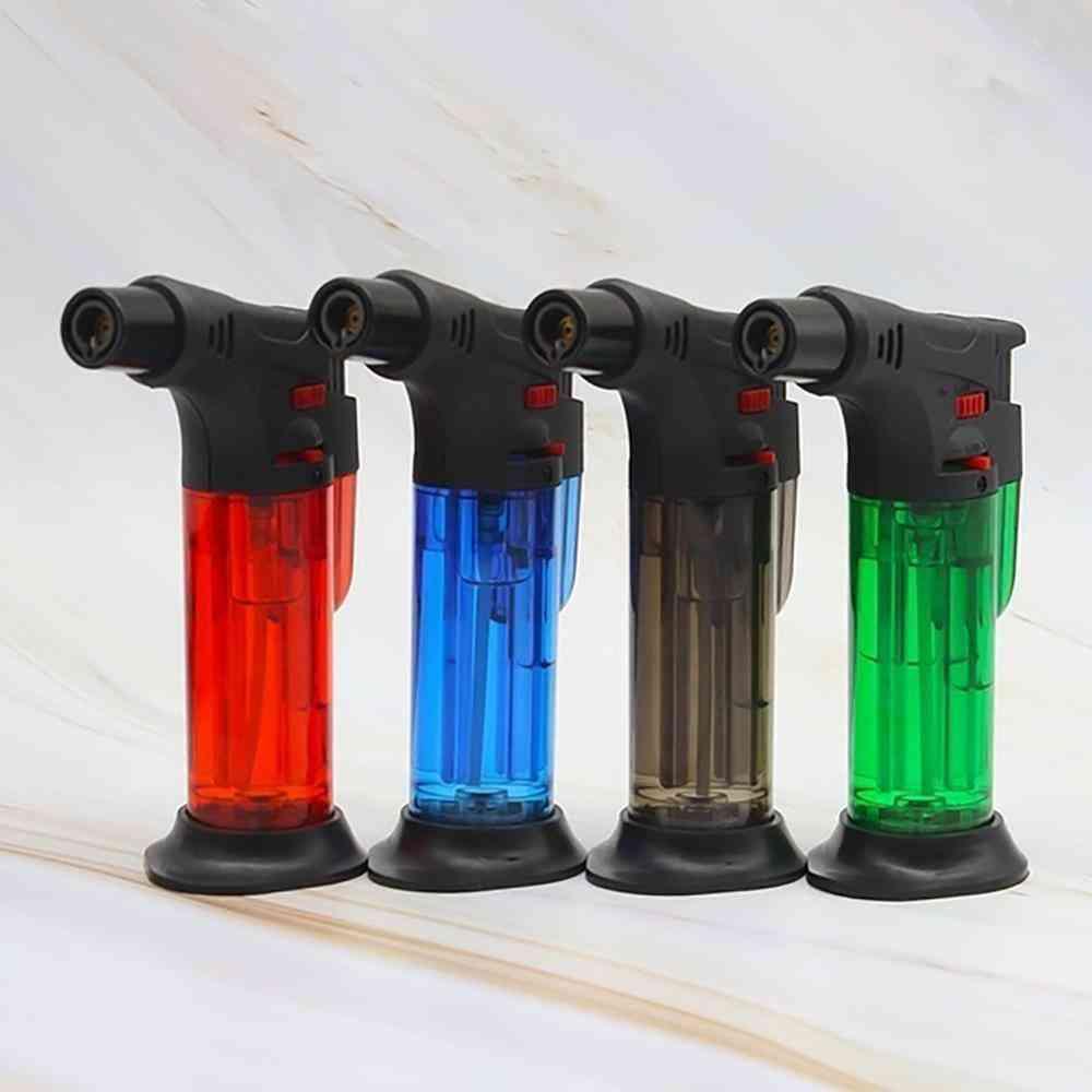 High Jet Flame Butane Gas Transparent Body Torch Lighter Cooking Bbq.