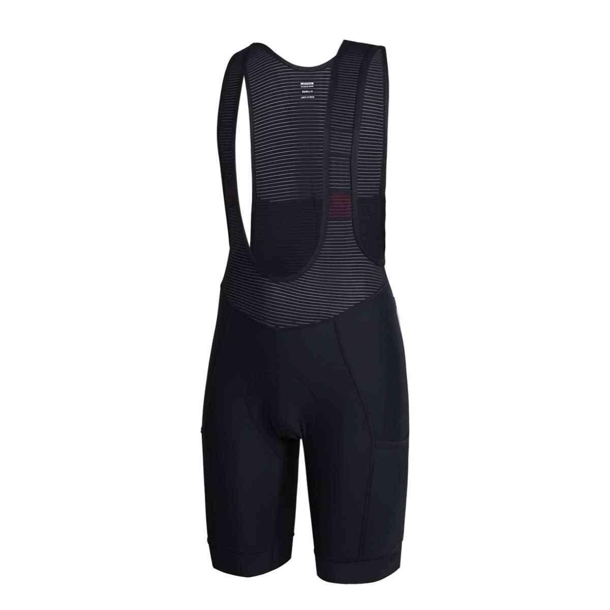 Long Travel Cycling Bib Shorts With Side Pocket Italy Pad Bib Shorts